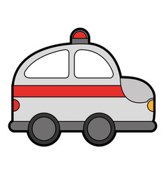 Ambulance service isolated icon vector