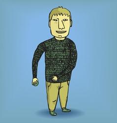 boy in a pulover vector image
