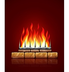 Burning flames of fire vector image vector image