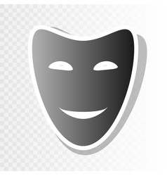 Comedy theatrical masks new year blackish vector