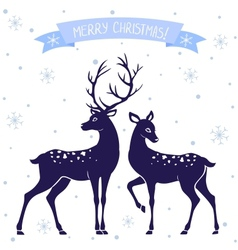 Deer christmas vector