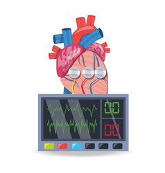 Electrocardiograpy machine to know cardiac rhythm vector