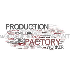 Factory word cloud concept vector