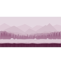 Fantasy cartoon landscape seamless nature vector image