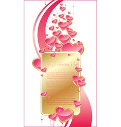 hearts for design vector image vector image