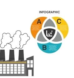 Infographic industrial security design vector