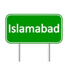 Islamabad road sign vector