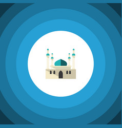 Isolated mohammedanism flat icon architecture vector