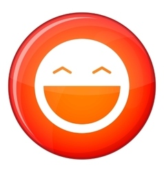 Laughing emoticon flat style vector image vector image