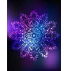 Mandala Card color vector image