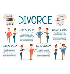marriage and divorce infographics vector image vector image