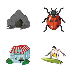 Mountain trade and other web icon in cartoon vector