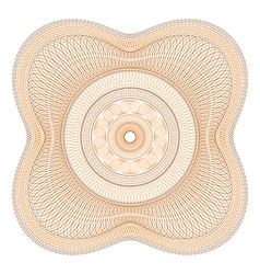 Orange Guilloche Rosette vector image vector image