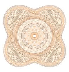 Orange Guilloche Rosette vector image vector image