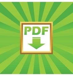 Pdf download picture icon vector