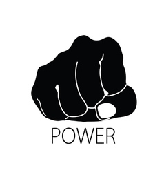 power icon silhouette vector image vector image