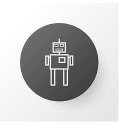 Robot icon symbol premium quality isolated cyborg vector