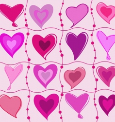 set of cartoon hearts vector image vector image