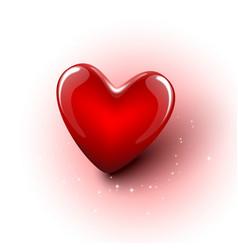 Shiny 3d red heart vector