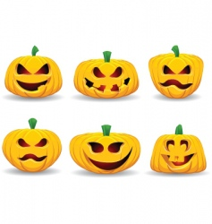 spooky pumpkins vector image vector image