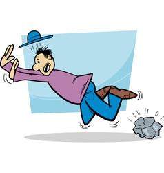 Stumbling man cartoon vector