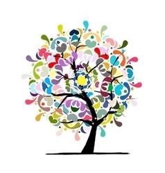 Mandala tree floral sketch for your design vector image