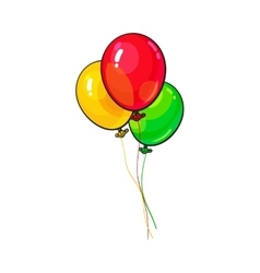 Bunch of three bright and colorful balloons vector