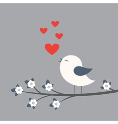 Cute bird vector image