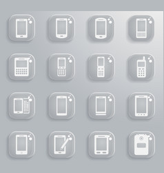 phones simply icons vector image