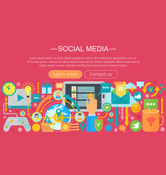 Modern flat design social media concept social vector