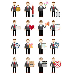 set businessman stock flat vector image