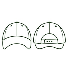 Baseball blank cap vector