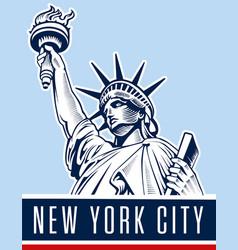 Liberty statuenyc usa vector