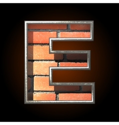 Brick cutted figure e vector