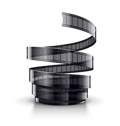 Spiral of cinematography film vector image