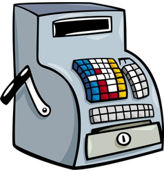 Till or cash register cartoon clip art vector