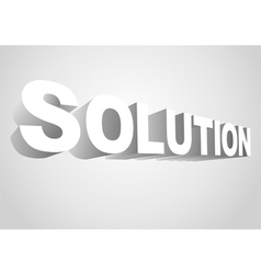 3D Solution vector image vector image
