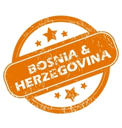 Bosnia and herzegovina grunge icon vector