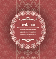 Vintage background for invitations vector image
