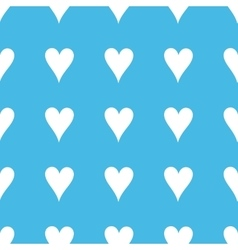 Hearts straight pattern vector