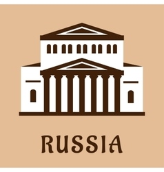 Russian grand theater flat icon vector