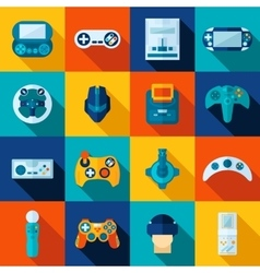 Video game icons set vector