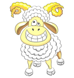 Cartoon funny happy ram vector