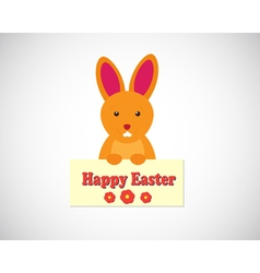 Easter bunny - cartoon vector
