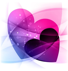 Background with two hearts valentines day vector
