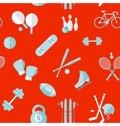 Sports seamless pattern sports equipment vector
