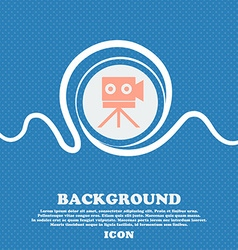 Video camera sign iconcontent button blue and vector