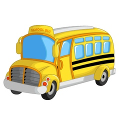 Cute school bus cartoon vector