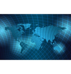 abstract background with grid and map vector image vector image