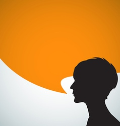 Abstract speaker silhouette vector image vector image